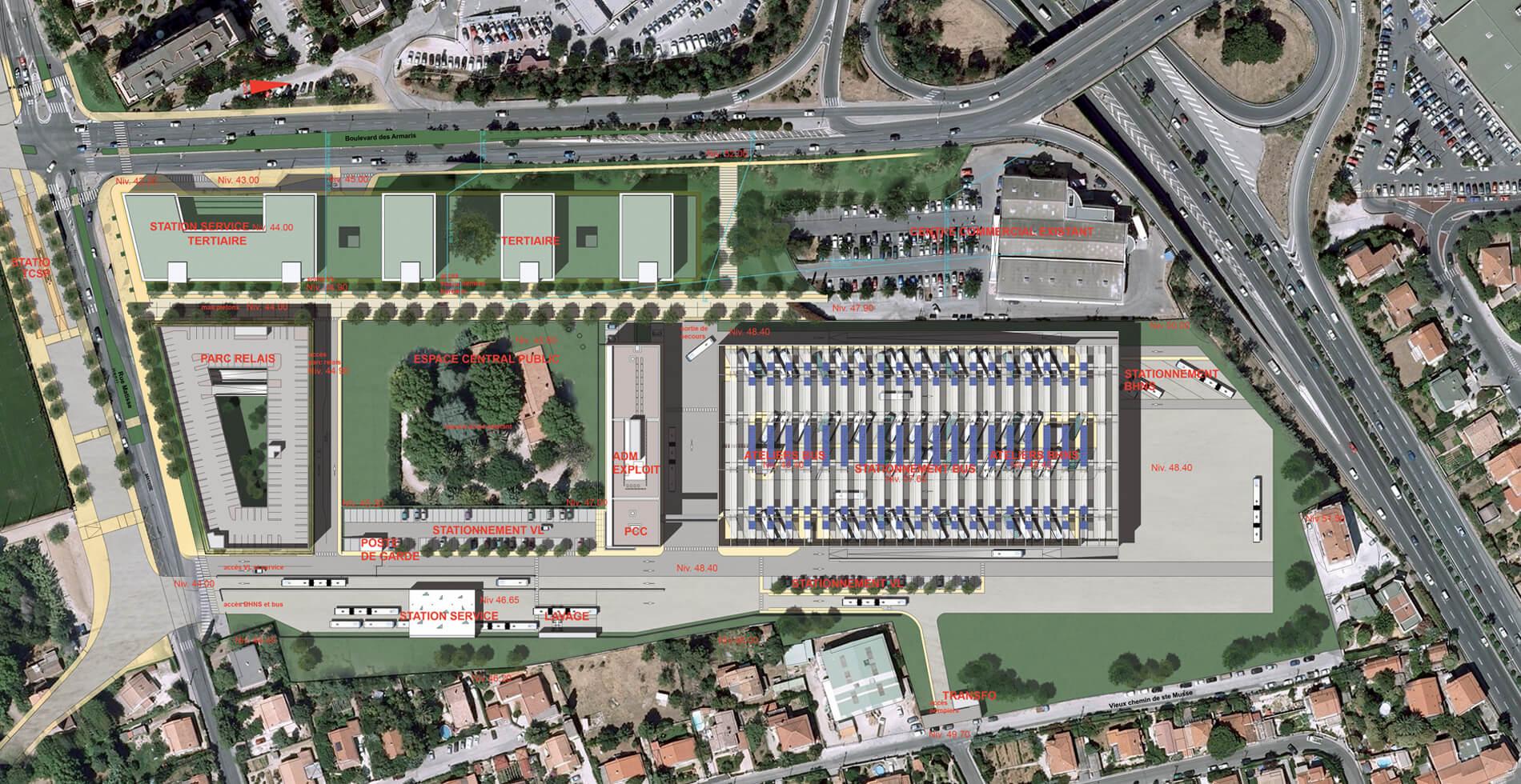 Centre multimodal TCSP de l'Agglomération toulonnaise