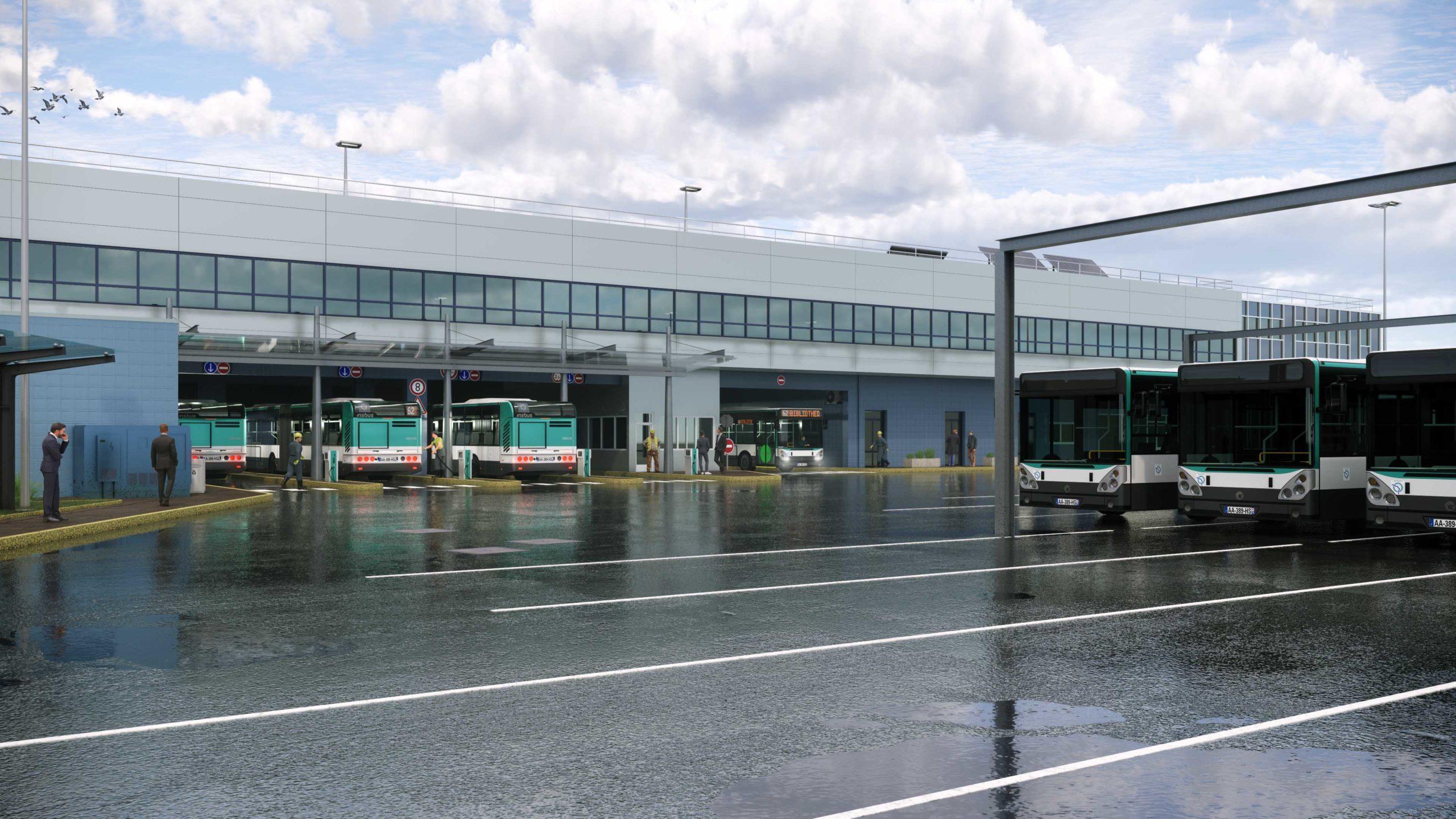 Dépôt bus Pavillons