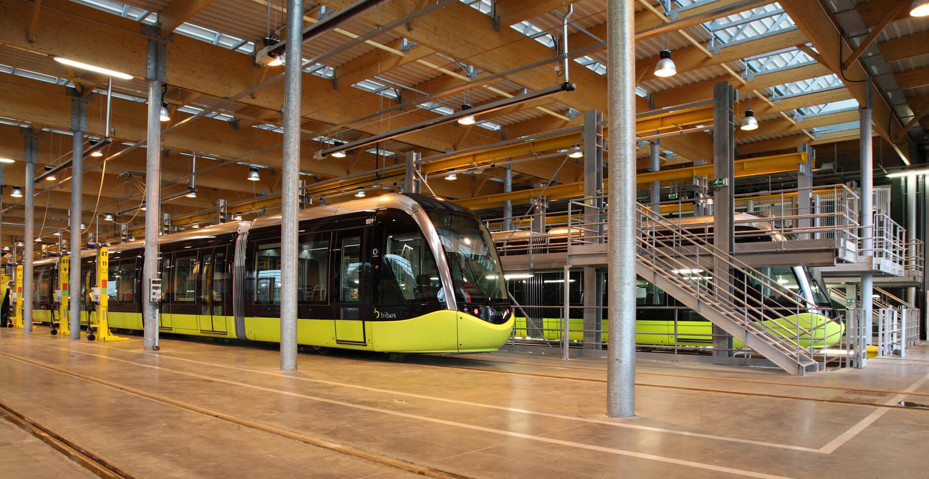 Centre de maintenance du tramway de Brest